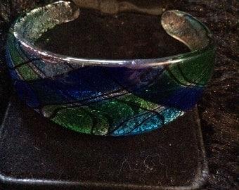 Glass cuff bracelet