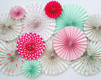 Moulin à vent fan de papier décorations de tenture de toile de fond de mariage