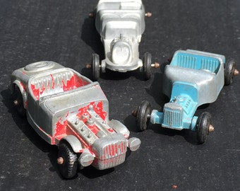 Hot Rod Midgetoy Cars Junior Series. Vintage Collection of 3