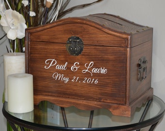 Personalized Wedding Card Chest