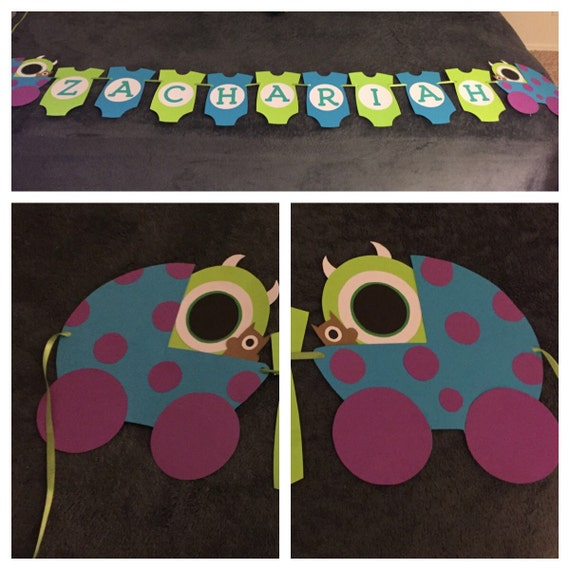 Baby Shower Custom Banners: Monsters Inc Baby Shower Banner By EmmysCustomBows On Etsy