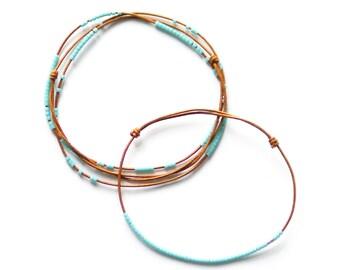 BRIGHT GREEN BLUE - necklace + bracelet