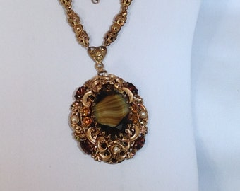 Brown and Green W. Germany Necklace