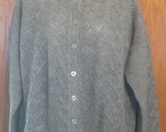 hand made knitted 100% alpaca sweater, cardigan