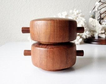 Vintage wooden pepper mill grinder shaker Dansk Danish mid century modern teak wood