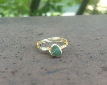 Dainty ring / stone / made to order