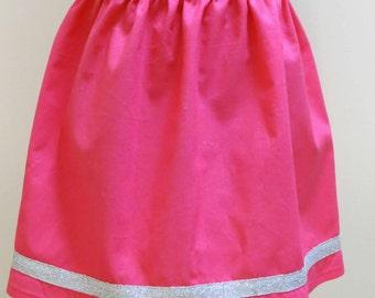 Gathered Skirt, Girls Skirt, Size 5, Hot Pink, Summer Skirt