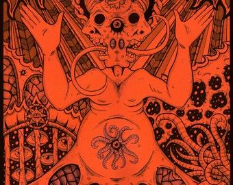 Dark fantasy art print Enlightened