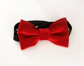 Red velvet Bow-tie for baby, toddler, boys and adult