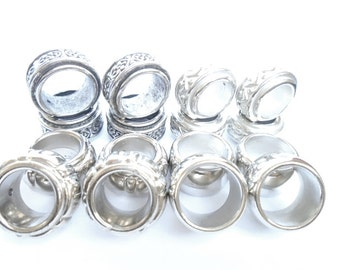 Silver Scarf Rings 16pcs  Fashion Jewelry Charms Rings Slides For Pendant Scarf Accessory Free Shipping In US