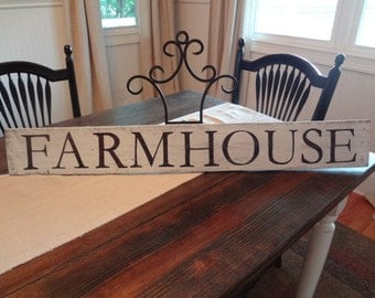 Rustic Distressed Wood Farmhouse Sign