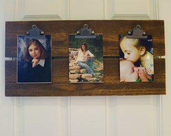 Wood Clipboard Photo Display for 5X7 Photo's