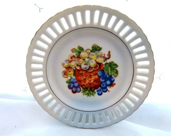Vintage 1950s Mixed Fruit Plates Made in Japan