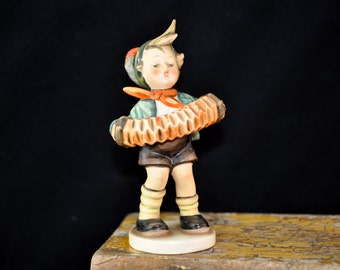 1950's Acordion, Boy Hummel Figurine, Goebel Hummel, Great Gift Idea, #780