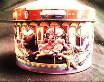 Coca Cola carousel tin