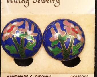 Peking Jewelry handmade cloissone clip-on earrings