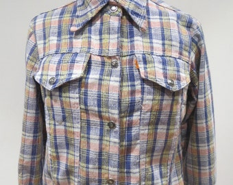 1970s Levis Cheesecloth Jean Style Checked Jacket
