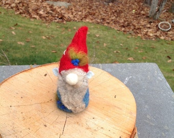 Needle felted gnome,blueberry gnome