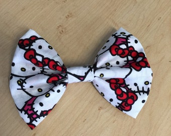Hello kitty hair bow on a clip