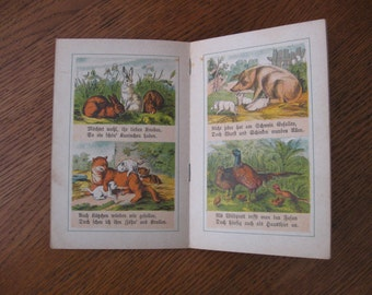 Vintage German Children's Book - Illustrated - V. Nice Condition