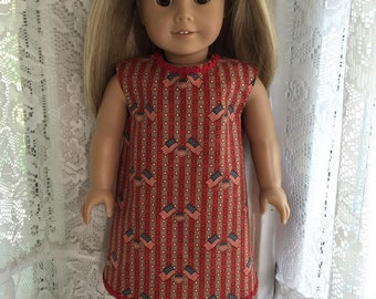 Americana vintage look dress for 18 inch dolls