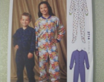 Kwik Sew 3714 Children's XS-S-M-L-XL pajamas