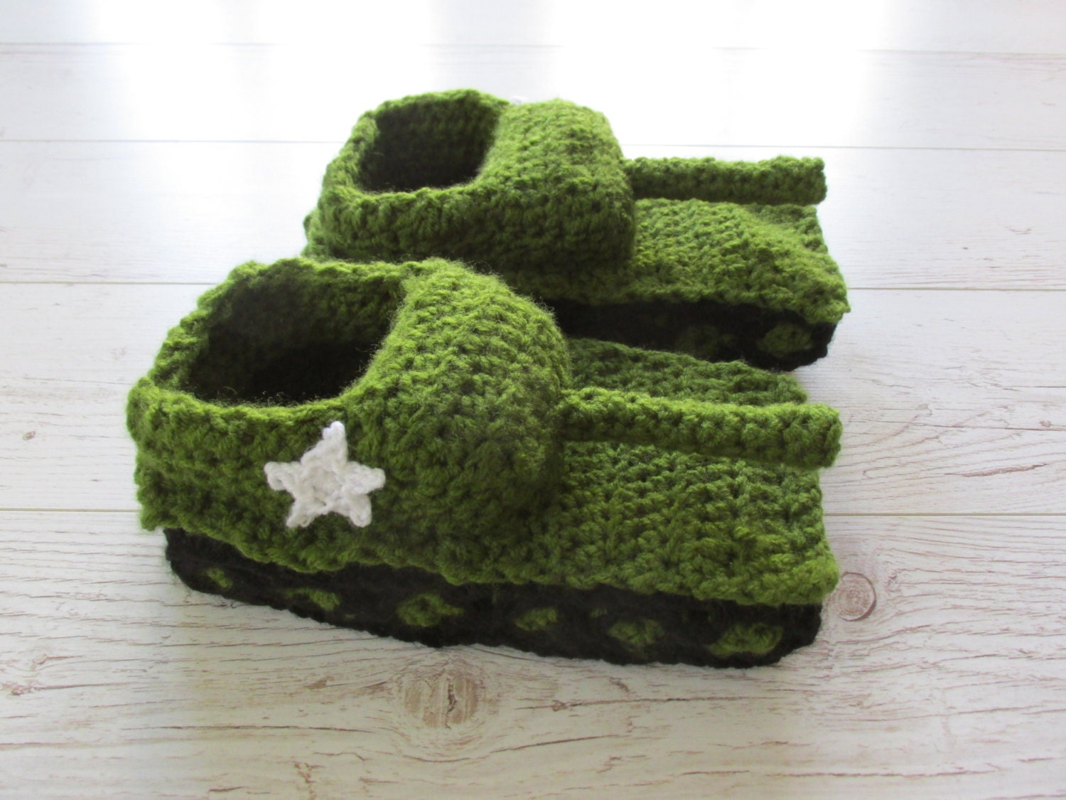Knitting Pattern For Army Tank Slippers : Tank slippers Valentines gift College Student Valentines
