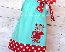 Personalized Daniel Tiger Dress (matching kids tote bag available)
