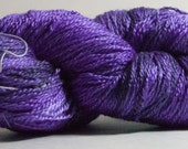Seawater Silk in Delusions of Grandeur - 492 yards of hand dyed 51/29/20% silk/merino/seacell fingering weight yarn