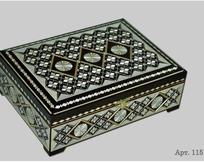 Jewelry box. Casket from Russia. Original gift. #С 1151-41 #80