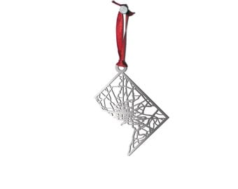 Washington DC Christmas Ornament | Stainless Steel Cut Map| Metal Ornament | State Map