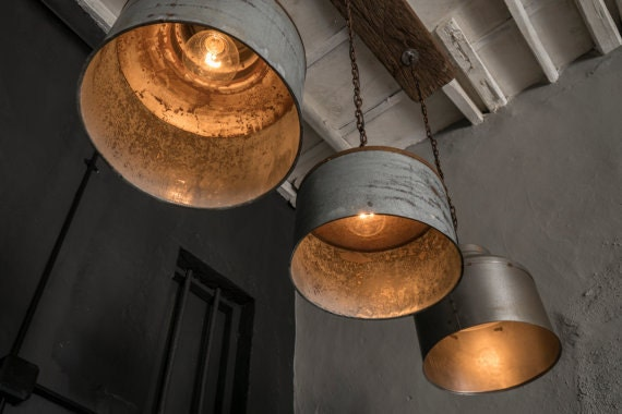 Galvanized Lighting Fixturependant Lightingrustic By Eskiden