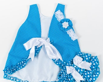Ruffles girls set,baby gift,summer outfit,polka dots,diaper cover with ruffles,birthday set,kids clothing,ready to ship