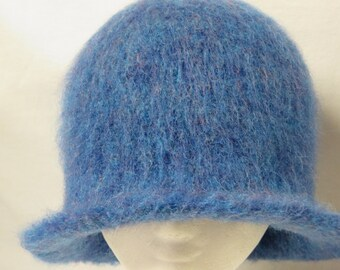 Hat Wool Felted Baltic Winter with Flared Brim