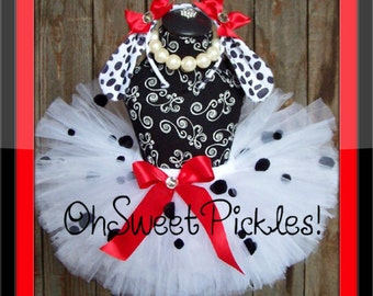 DALMATION Puppy - Halloween Costume - Sizes 0, 3, 6, 9, 12, 18, 24 Months, 2t, 3t, 4t, 5t