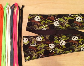 Choose Your Color of Ties Camo Skull cross fit Wrist Wraps