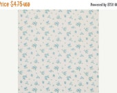 SALE Calico fabric VINTAGE by Annette Tatum  - Tea Party in Turquoise  - blue Fabric for Free Spirit - Half Yard - Shabby Chic
