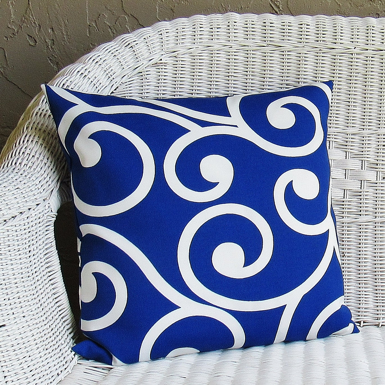 Royal Blue Outdoor Throw Pillows : Outdoor Cobalt Royal Blue Pillow Cover Decorative Throw Accent