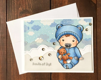 Handmade Baby Shower Card, Baby Shower, Baby Shower Card, Its a Boy Card, Its a Boy, Boy Baby Shower, Baby Shower, Handmade