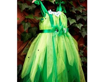 Princess dress tulle Fairy costume made girl summer party dress