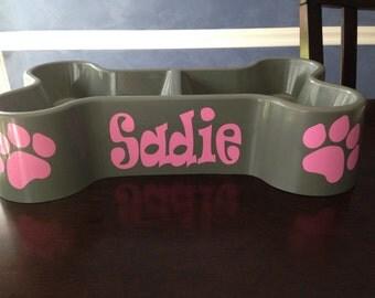 Dog Bowl - Bone shaped feeder