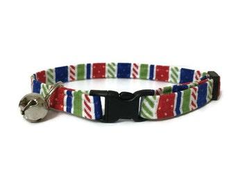 Cat Collar, Holiday Stripes