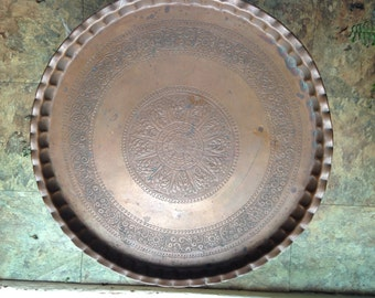 Hammered Copper Middle Eastern Tray