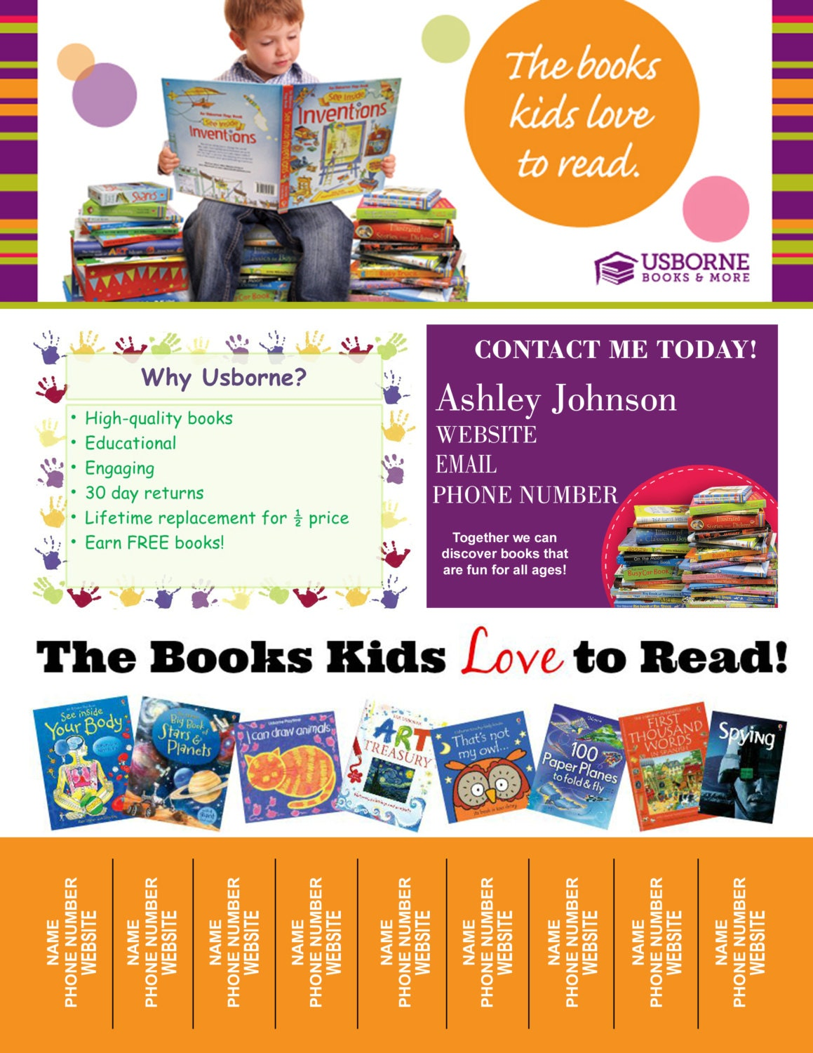 digital usborne books tear off printable flyer 128270zoom