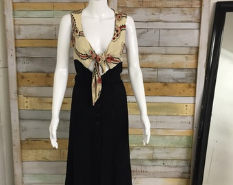 Sold - DO NOT PURCHASE Iconic Ossie Clark and Celia Birtwell 'floating daisy'  70's moss crepe dress
