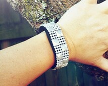 Fitbit Pearl Checkered Fitbling: Flex, Charge, Charge HR, Surge, NonAdhesive Cover, Wearable Tech Jewelry, Fitbit Accessory, Wedding Jewelry