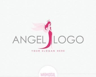 Angel logo - Cute fashion diva design- costumes shop - adult store
