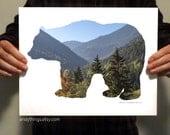 Black Bear Habitat Print - Two