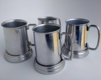 Set of Aluminum Tankards / Mugs