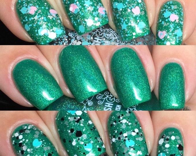 valentines nail polish trio - 15ml - Handmade - polish - lacquer FREE SHIPPING